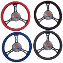 T12030 - Steering wheel cover, leatherette