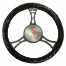 T12060 - Steering wheel cover with spidernet motif, velour touch