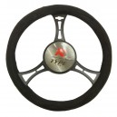 T12065 - Steering wheel cover with structured surface, velour touch